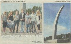Markaryds monument på plats - Smålänningen 060612 (a)